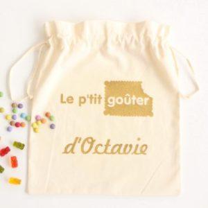 Pochon sac à goûter personnalisable