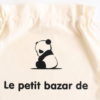 Pochon sac panda Le bazar de personnalisable