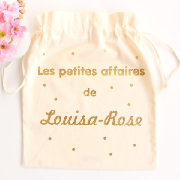 Pochon sac confettis Les petites affaires de personnalisable