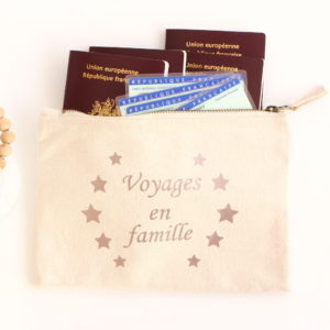 Pochette de voyage personnalisable Etui passeport papiers d'identité