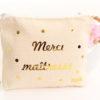 Trousse Pochette confettis personnalisable MERCI maman, maîtresse, marraine
