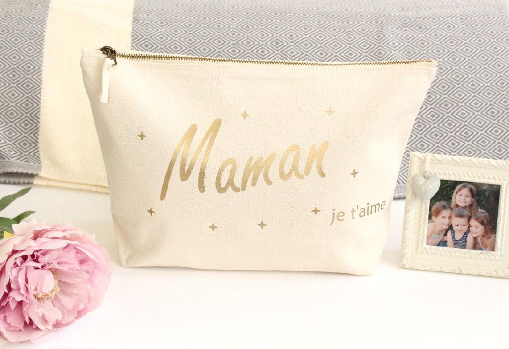 Grande Trousse de toilette maquillage Maman Personnalisable