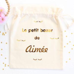 Pochon sac CILS Le petit bazar de personnalisable