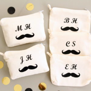 Porte-monnaie Moustache personnalisable avec initiales ou prénom