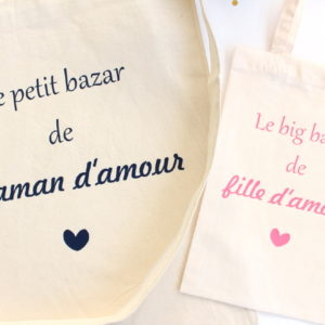 Tote bag Sac Le bazar Duo mère fille d'amour
