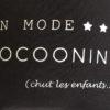 Coussin noir et argent En mode cocooning personnalisable