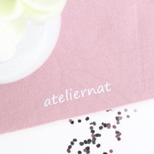 """Pochon sac rose poudré """"Le petit bazar"""" personnalisable Plumes"""