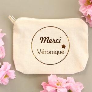 Pochette Porte-monnaie Porte-cartes MERCI étoile personnalisable