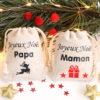 Mini hottes de Noël renne et cadeau