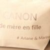 """Grande Trousse """"Canon de mère en fille"""" personnalisable"""