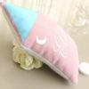 Coussin musical Maisonnette rose toit bleu personnalisable