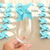 Marque-verre Marque-place Moulin à vent et Nuage bleu turquoise