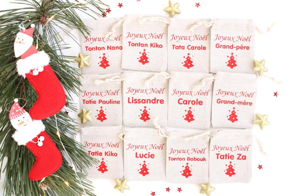Mini-hottes-de-Noël-personnalisables-sapin-rouge-1
