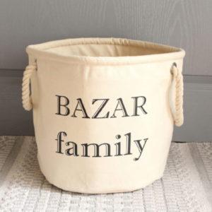 "Panier de rangement ""Bazar family"""