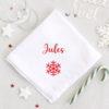 Serviette de table pour Noël Flocon personnalisable