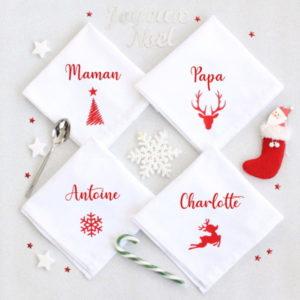 Serviette de table pour Noël personnalisée