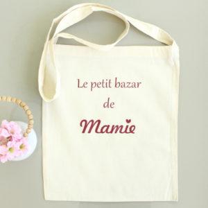 Tote bag Sac bandoulière personnalisable Le petit bazar