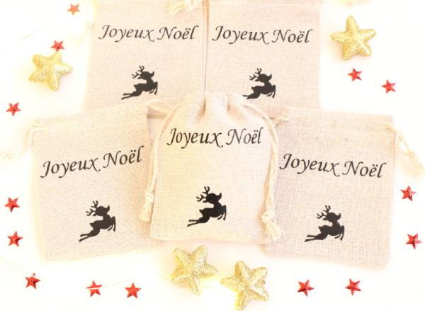 """Mini hotte de Noël Décoration de table Noël """"renne"""""""