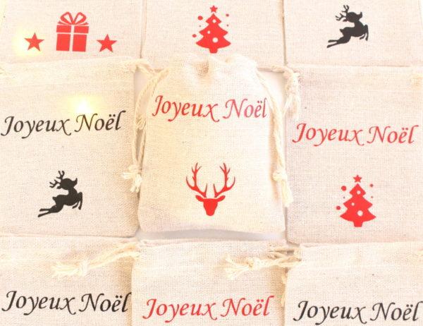 """Mini hotte de Noël Décoration de table Noël """"cerf"""""""