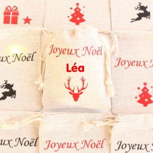 """Mini hotte de Noël personnalisable Marque place Déco de table Noël """"cerf"""""""