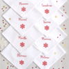 Serviette de table pour Noël Flocon personnalisable