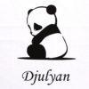 Coussin panda personnalisé avec un prénom