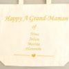 """Maxi Tote bag Sac """"Happy Grand-Maman"""" personnalisable"""