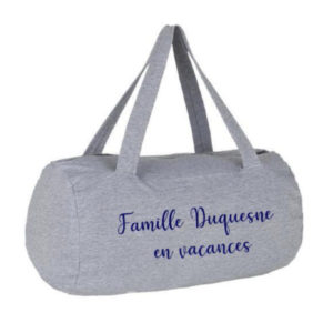 Sac week-end polochon Famille personnalisable