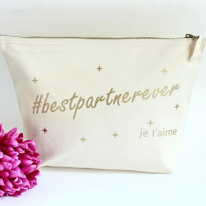 "Grande Trousse ""Bestpartnerever"" personnalisable"