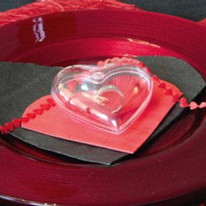 Coeur à garnir Bague fiançailles