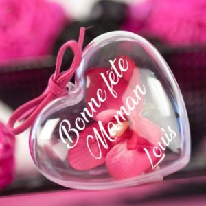 """Cœur à garnir """"Bonne fête maman"""" personnalisable"""