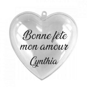 """Cœur à garnir """"Bonne fête"""" personnalisable"""