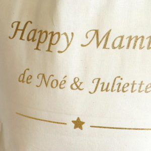 "Maxi Tote bag Sac ""HAPPY MAMIE"" personnalisable"
