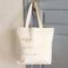 "Maxi Tote bag Sac ""HAPPY MAMIE"" personnalisable"