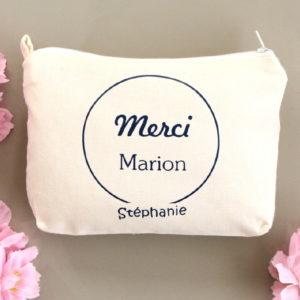 Pochette Porte-monnaie MERCI personnalisable avec prénom