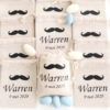 Pochons personnalisés Moustache pour dragées baptême communion
