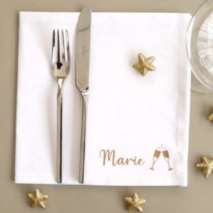 Serviette de table Coupes de champagne personnalisable