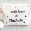 """Trousse Pochette étoiles star """"Le petit bazar de"""" personnalisable"""
