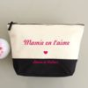 "Trousse bicolore ""Mamie on t'aime"" personnalisable"