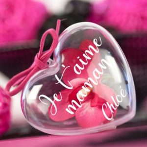 """Cœur à garnir """"Je t'aime"""" personnalisable"""
