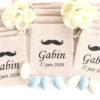 Pochons dragées moustache noir Gabin
