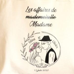 Sac cabas Logo mariage
