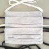 Masque de protection Masque barrière à plis Adultes enfants avec liens à nouer