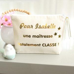 """Trousse """"Maîtresse totalement classe"""" personnalisable"""