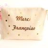 Trousse Pochette confettis MERCI personnalisable