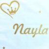 Coussin blanc princesse Nayla doré pailleté