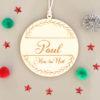 Boule en bois Mon 1er Noël Paul