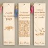Marque page en bois citation et prénom