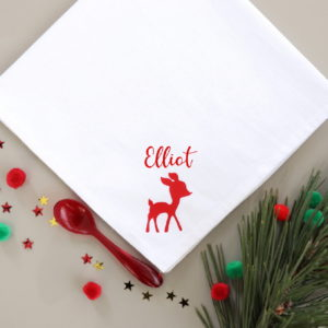 Serviette de table Noël faon