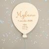 Ballon en bois prénom infos de naissance Mylann